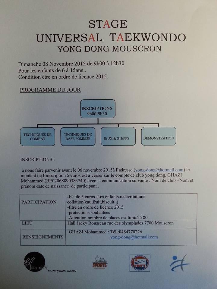 Stage universal taekwondo